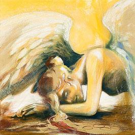 LEINWAND-Druck - Engel der Demut / Element Erde