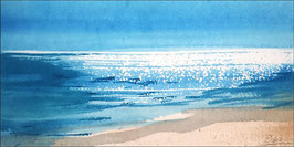 Landschaftsaquarell Leinwanddruck - Lust auf Meer / Südseesonne