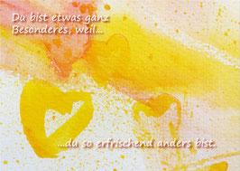 Kunst-Postkarte Herzensgruß Nr.5