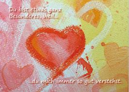 Kunst-Postkarte Herzensgruß Nr.6