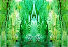 POSTER - Spiegelbild Farbenergie Grün
