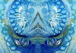 Spiegelbild Farbenergie Blau