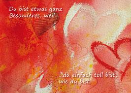 Kunst-Postkarte Herzensgruß Nr.9