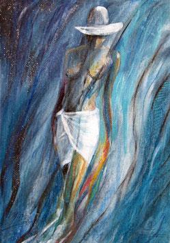 Badende Frau / Element Wasser