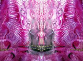 Spiegelbild Farbenergie Magenta