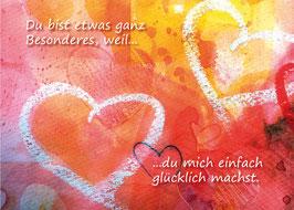 Kunst-Postkarte Herzensgruß Nr.1