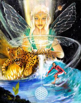 Leinwanddruck - Das Universum / Sakis-Tarot