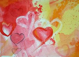 Herzbild - Herzliche Grüße