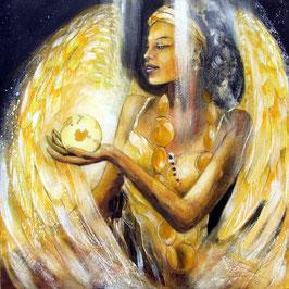Leinwandbild - Erzengel Haniel (a) - Engel der Fülle