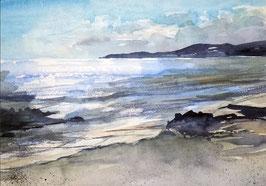 Lust auf Meer / Morgenfrische / Original Landschaftsaquarell