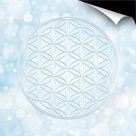 Poster FineArt - Blume des Lebens Farbenergie weiß