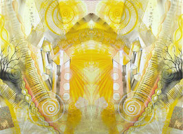 POSTER - Spiegelbild Farbenergie Gelb