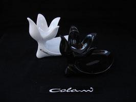 Ein Paar Colani Eierbecher - Schwarz / Weiss