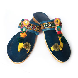 "GUJARATI SANDALS ""MEHSANA"" • blue"
