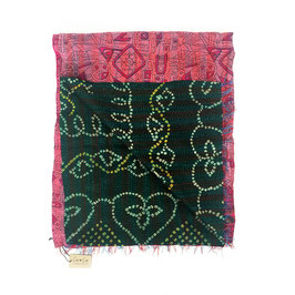 "Silk Kantha Scarf/Fabric  ""INDEKA"""
