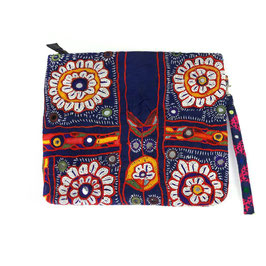 "Bohemian Banjara XL-Clutch  ""blue lotus """