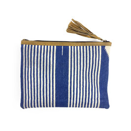 "Ipad Bag "" Stripes a"" - jeans blue 