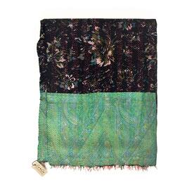 """Silk Kantha Scarf/Fabric  """"KERMA"""""""