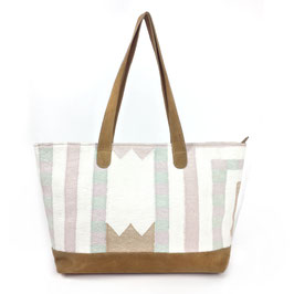 "Handcrafted Shopper ""SHADES of PASTEL""  a"