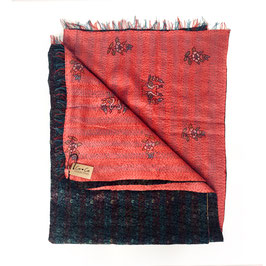 "Silk Kantha Scarf/Fabric  ""PREMA"""