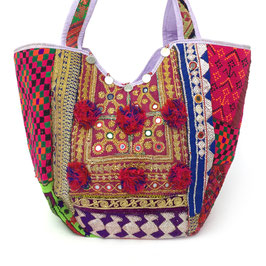 "Banjara  TOTE  BAG  ""RED SPRING"""
