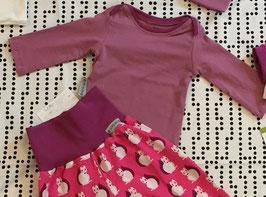 T-Shirt langarm vintage rose /malve