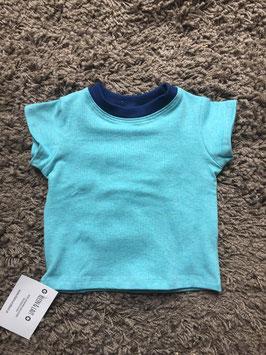 T-Shirt kurzarm Jungs blau meliert