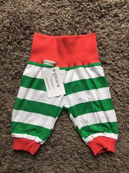 Pumphose Jersey Streifen grün/weiß- rot