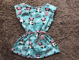 Mädchen Printkleid Jersey Pandagirl