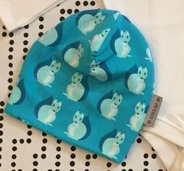 Beanie doppelt Jersey Squirrel blau