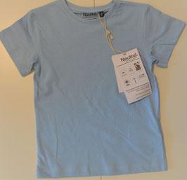 T-Shirt kurzarm hellblau