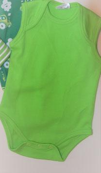Body ärmellos grün