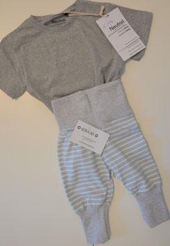 Pumphose Jersey Streifen grau