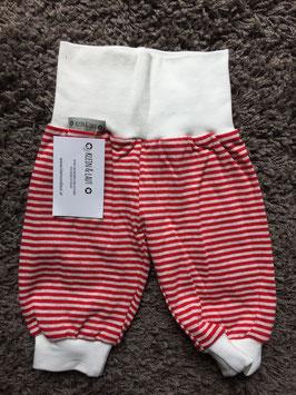 Pumphose Jersey Streifen rot/weiß