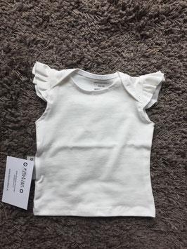 T-Shirt Rüschenärmel Mädchen weiße Wolke