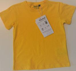 T-Shirt kurzarm gelb