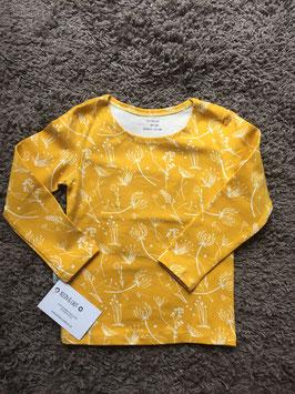T-Shirt langarm senf Graßblume