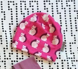 Beanie doppelt Jersey Squirrel pink