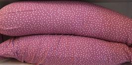 BIO-Dinkelspelz-Stillkissen Jersey Dotties Vintage rose