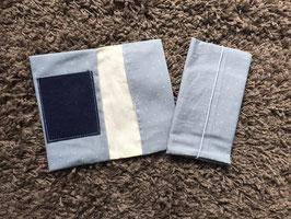 Mutterkindpass Hülle mit e-card Fach Punkte grau/blau