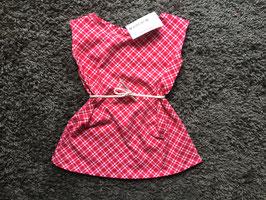 Mädchen Printkleid Jersey Karo Rot/rosa