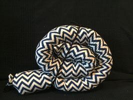 Puckschnecke Dinkelspelz Zacken dunkelblau