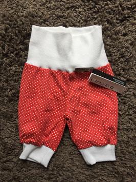 Pumphose Jersey Punkte rot/weiß