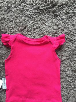 T-Shirt Rüschenärmel Mädchen pink