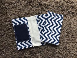 Mutterkindpass Hülle mit e-card Fach Zacken dunkelblau
