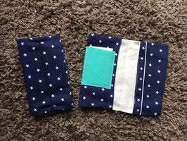 Mutterkindpass Hülle mit e-card Fach dunkelblau Sterne