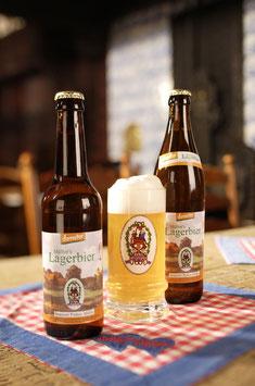 Müller´s Lagerbier in der 0,33l Flasche