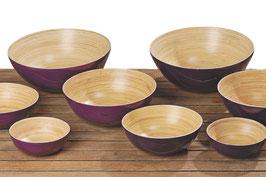 Grosse Schalen 4er Set Bambus lackiert
