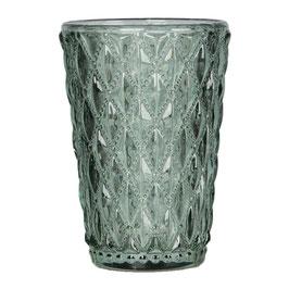 Blossom Glas Windlicht grün M