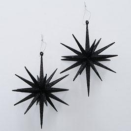 Dekohänger Stern 2er Set schwarz